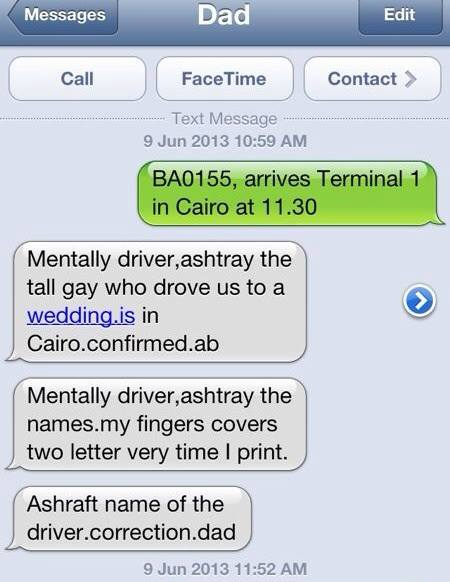 translation: Metwally driver, Ashraf the tall guy... etc